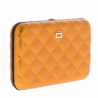 Ogon Quilted Button Porte Cartes Orange