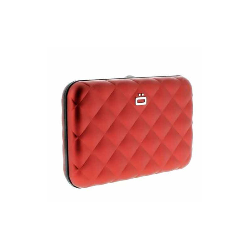 Ogon Quilted Button Porte Cartes Red