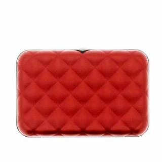 Ogon Quilted Button Porte Cartes Red dos