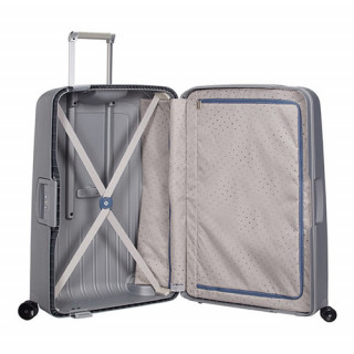 Samsonite S'Cure Spinner 69 cm Valise Trolley 4 Roues Silver ouvert