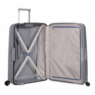 Samsonite S'Cure Spinner 75 cm Valise Trolley 4 Roues Silver ouvert
