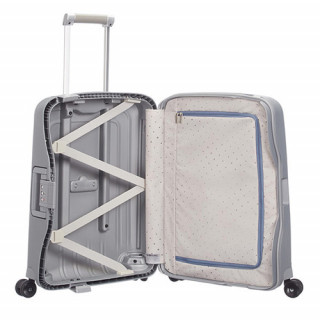 Samsonite S'Cure Spinner 55 cm Valise Cabine Trolley 4 Silver