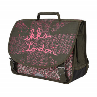 IKKS London Cartable 38cm Kaki