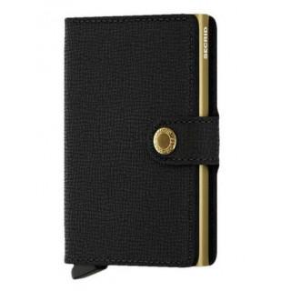 Secrid Porte-Carte Miniwallet  Crisple Black Gold