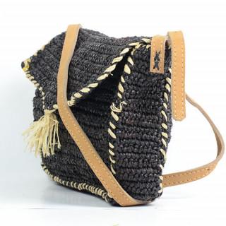 L'Atelier du Crochet Sac Trotteur Crochet Feoda Noir