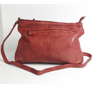 sac femme Biba en cuir rouge