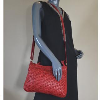 Biba Kansas KA2 Sac Besace Rojo porté