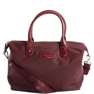 Lancaster Basic Verni Sac Shopping 514-66 Bordeaux