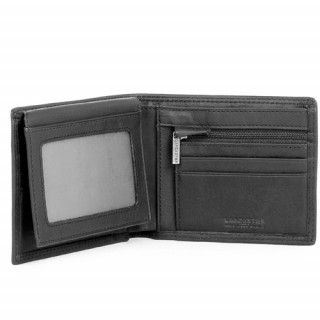 Lancaster Soft Vintage Homme Portefeuille 120-11 Noir ouvert