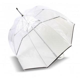 Isotoner Parapluie Droit PVC Manuel Bords Noirs