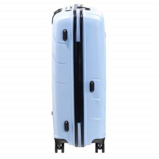 Jump Sqill 77 cm Valise Soute Trolley 4 Roues Gris Bleu cote
