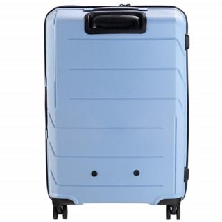 Jump Sqill 77 cm Valise Soute Trolley 4 Roues Gris Bleu dos