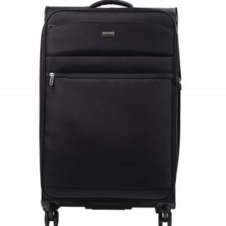 Jump Toledo 2.0 valise Verticale souple 75cm Trolley 4 Roues Noir face