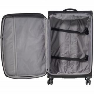 Jump Toledo 2.0 valise Verticale souple 75cm Trolley 4 Roues Noir ouvert