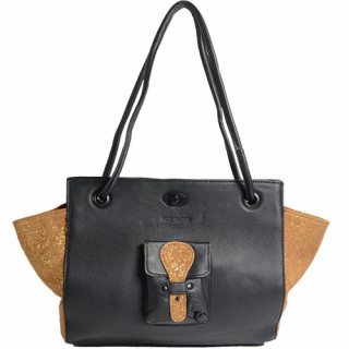 Paul Marius Madame M Sac Shopping Noir Doré