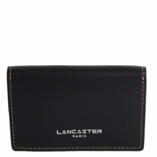 Lancaster Smooth Homme Porte Cartes 128-72 Noir In Nat