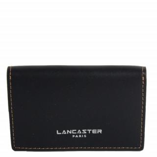 Lancaster Smooth Homme Porte Cartes 128-72 Noir In Nat