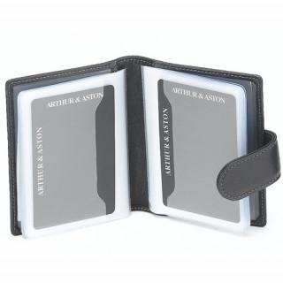 Arthur et Aston Elegance Porte Cartes 576-654 Noir ouvert