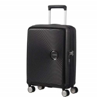 American Tourister Sound Box Spinner 55 cm Valise Cabine Trolley 4 Roues Noir