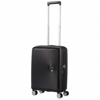 American Tourister Sound Box Spinner 55 cm Valise Cabine Trolley 4 Roues Noir 2