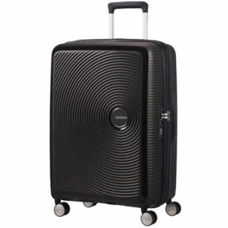American Tourister Sound Box Spinner 67 cm Valise Trolley 4 Roues Black Bass