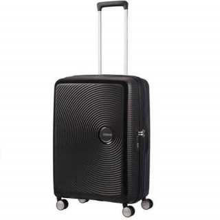 American Tourister Sound Box Spinner 67 cm Valise Trolley 4 Roues Black Bass face