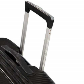 American Tourister Sound Box Spinner 55 cm Valise Cabine Trolley 4 Roues Noir trolley