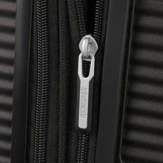 American Tourister Sound Box Spinner 55 cm Valise Cabine Trolley 4 Roues Noir fermeture