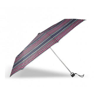 Isotoner Parapluie Pliant Manuel Rayure Baltique