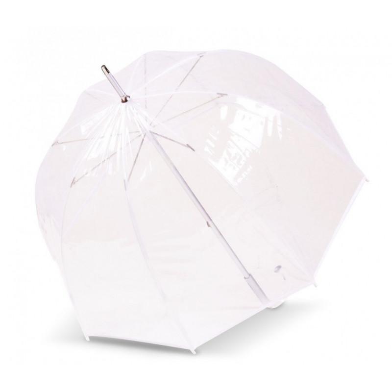 Isotoner Parapluie Droit PVC Manuel Bords Blancs