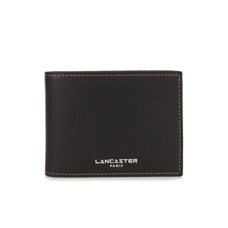 Lancaster Smooth Homme Porte Cartes 128-73 Noir In Na