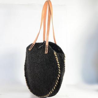 L'Atelier du Crochet Sac Rond Elipsoa Noir