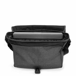 """Eastpak Buckler sac pour Pc portable 12"""" 77h Black Denim ouvert"""