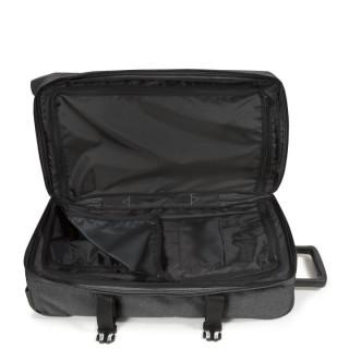 Eastpak Tranverz M TSA Sac de Voyage 77h Black Denim ouvert