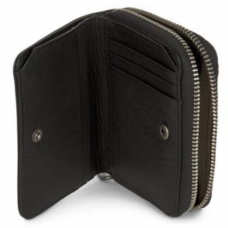 Lancaster Soft Vintage Portefeuille 120-26 Noir ouvert