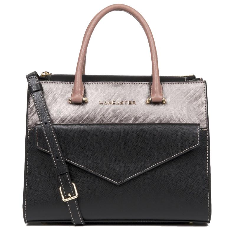 petit sac à main lancaster cuir vachette noir