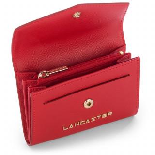 Lancaster Saffiano Signature Porte Monnaie 127-01 Rouge