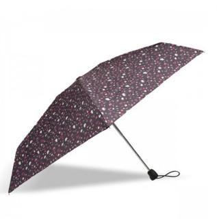 Isotoner Parapluie Mini Pliant Automatique Fleurs Arty ouvert