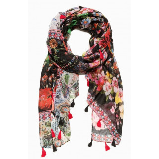 Desigual Foulard Rectangle Red Microrapport Rojo