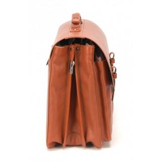 """Arthur & Aston Cartable 3 Compartiments PC 17"""" 1837-05 Cognac cote"""