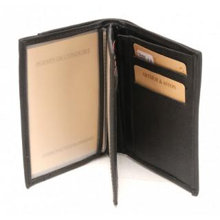 Arthur et Aston Moderne & Chic Portefeuille 1838-800 Noir face