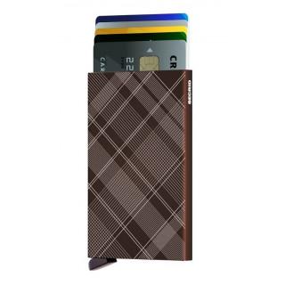 Secrid Porte-Carte Cardprotector Laser Tartan Brown