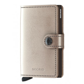 Secrid Porte-Carte Miniwallet Metallic Champagne Brown
