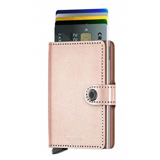 Secrid Porte-Carte Miniwallet Metallic Rose