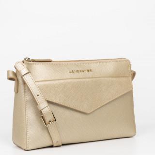 Lancaster Saffiano Signature Crossbody Bag Leather 527-18 Champagne