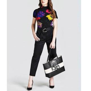 Guess Bobbi Sac Shopping 2 en 1 reversible Black Multi porté