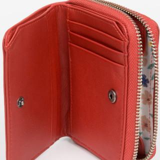 Lancaster Soft Vintage Portefeuille 120-26 Rouge ouvert