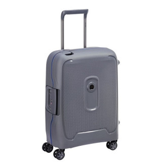 Delsey Moncey Valise Cabine Lowcost 4 Doubles Roues 55 cm Grise