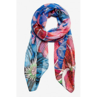 Desigual Foulard Rectangle Birdy Rouge