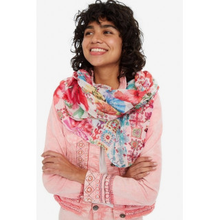 Desigual Foulard Rectangle Geisha Fuschia
